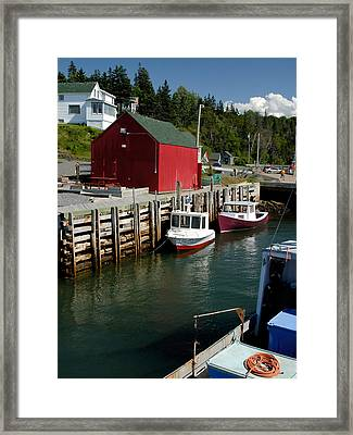 Halls Harbour Fishing Cove Framed Print by Norman Pogson