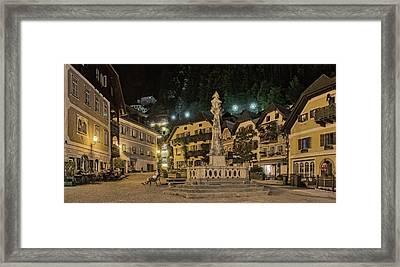 Hallstatt Town Square Framed Print