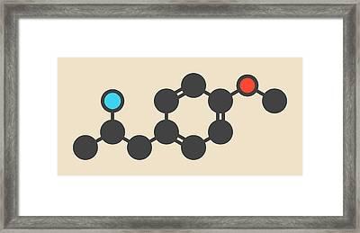 Hallucinogenic Drug Molecule Framed Print