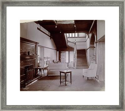 Hallway And Stairs Framed Print