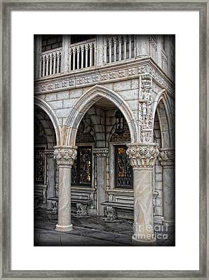 Hallways Of St. Mark's Framed Print by Lee Dos Santos