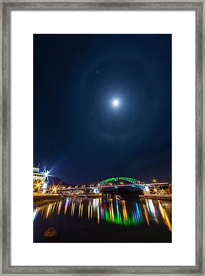 Halo Above The Bridge Framed Print