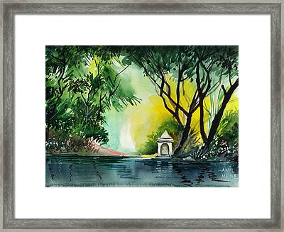 Halo Framed Print by Anil Nene