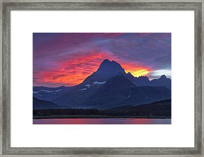 Halo On The Mountain Framed Print by Andrew Soundarajan