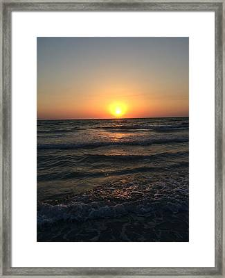 Halo Sun At Indian Rocks Beach Framed Print