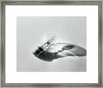 Halogen Energy Saving Light Framed Print
