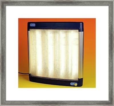 Halogen Heater Framed Print by Public Health England