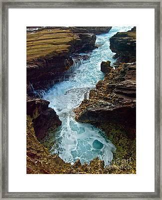 Halona Blow Hole - IIi Framed Print by Joe Finney