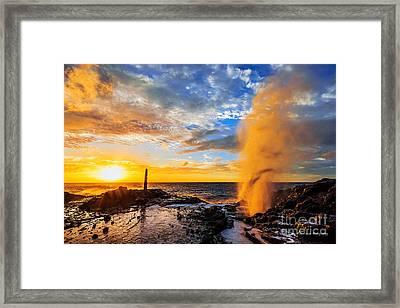 Halona Blowhole At Sunrise Framed Print by Aloha Art