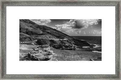Halona Blowhole Lookout- Oahu Hawaii Framed Print by Douglas Barnard