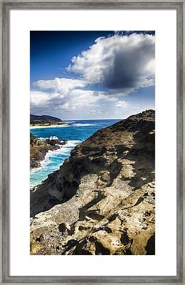Halona Blowhole Lookout- Oahu Hawaii V2 Framed Print by Douglas Barnard