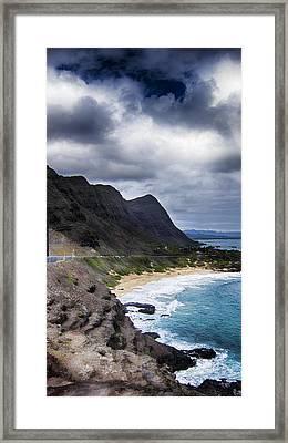 Halona Blowhole Lookout- Oahu Hawaii V3 Framed Print by Douglas Barnard