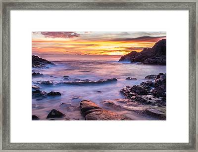 Halona Cove Sunrise 3 Framed Print