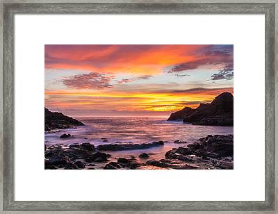 Halona Cove Sunrise 4 Framed Print