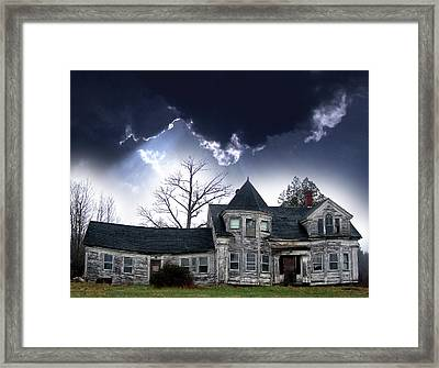 Haloween House Framed Print by Skip Willits
