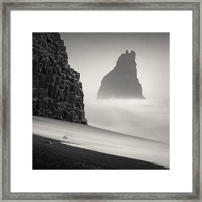 Halsenifs Hellir Sea Stack Framed Print