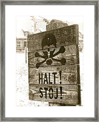 Halt This Madness Framed Print