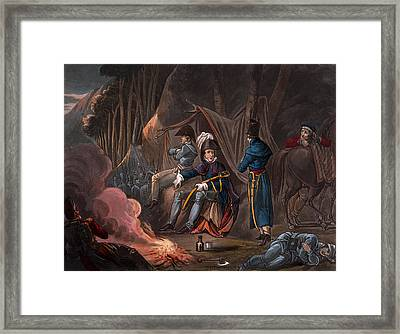 Halting In The Pyrenees In July 1813 Framed Print