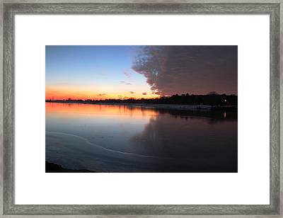 Halves  Framed Print