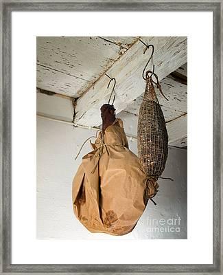 Ham And Sausage Framed Print by Sinisa Botas