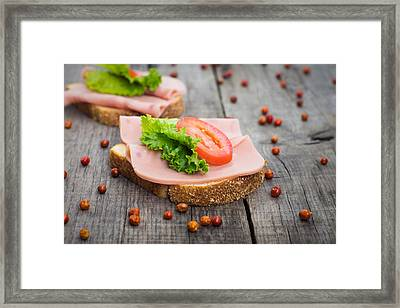 Ham Sandwich Framed Print by Aged Pixel