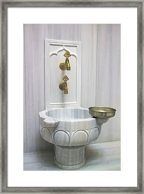 Hamam Marble Sink In Istanbul Framed Print