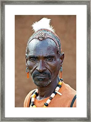 Hamar Man With Headdress Showing Status Framed Print