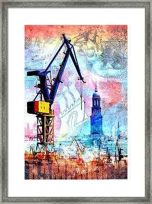 Framed Print featuring the digital art Hamburg - Meine Perle by Marc Huebner
