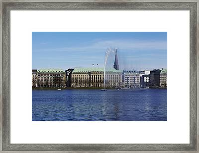 Hamburg - Spout At The Inner Alster Framed Print by Olaf Schulz