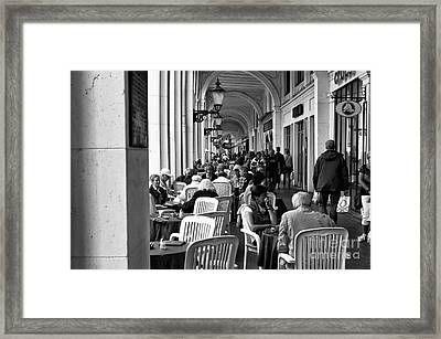 Hamburg Brunch Mono Framed Print