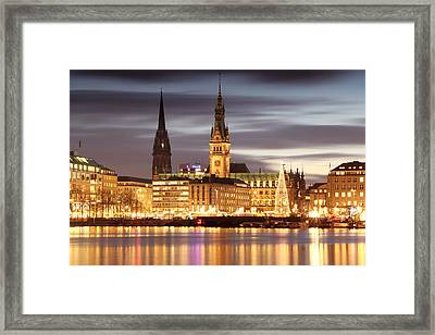 Hamburg Christmas Framed Print