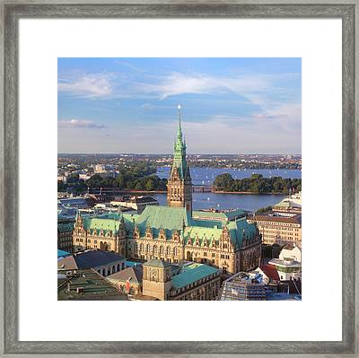 Hamburg City Hall Framed Print by Marc Huebner