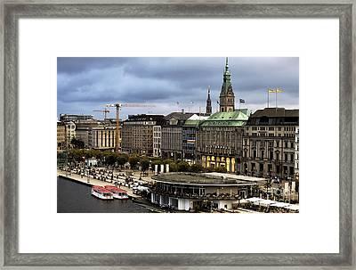 Hamburg Colors At Dusk Framed Print by John Rizzuto