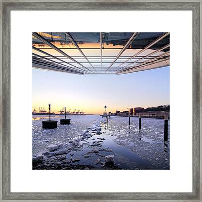 Hamburg Dockland Framed Print by Marc Huebner