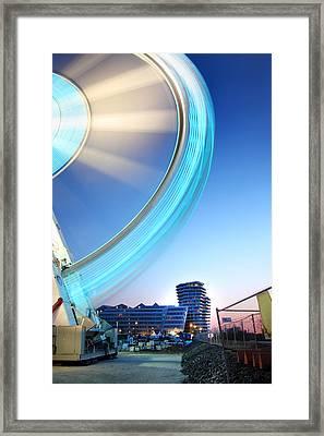 Hamburg Lightwheel Framed Print