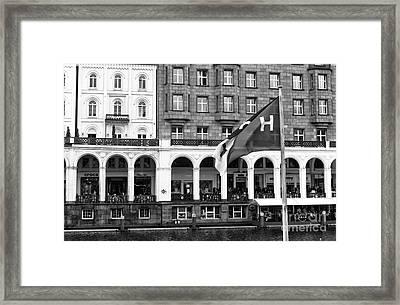 Hamburg Mono Framed Print by John Rizzuto