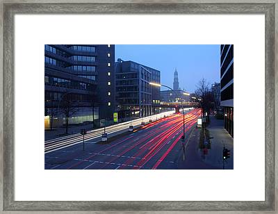 Hamburg Nightlines Framed Print by Marc Huebner