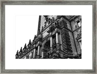 Hamburg Rathaus Decor Mono Framed Print