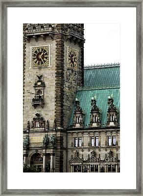 Hamburg Rathaus Details Framed Print by John Rizzuto