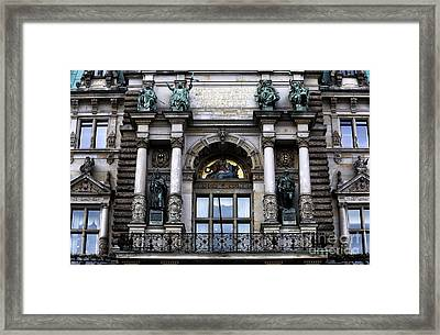 Hamburg Rathaus Window Framed Print