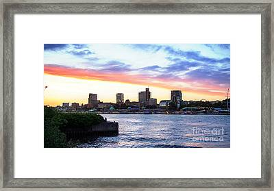 Hamburg Riverside Framed Print