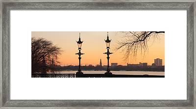 Hamburg Romance Framed Print by Marc Huebner