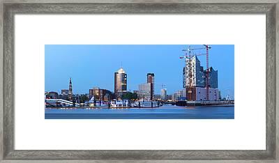 Hamburg Skyline Framed Print by Marc Huebner