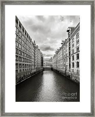 Hamburg Speicherstadt Framed Print