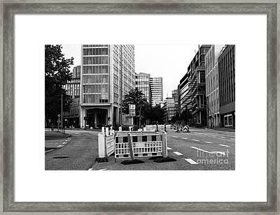 Hamburg Street Choices Mono Framed Print by John Rizzuto