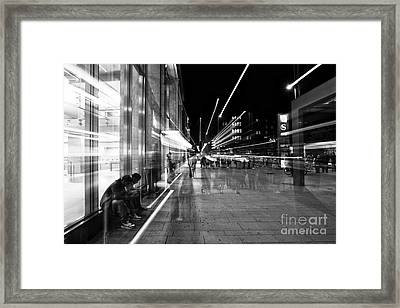 Hamburg Street Ghosts Framed Print