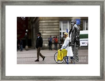 Hamburg Street Performers Framed Print