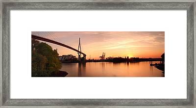 Hamburg Sunset Framed Print