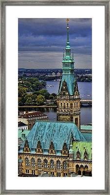 Hamburg - The Gargoyle's View Framed Print