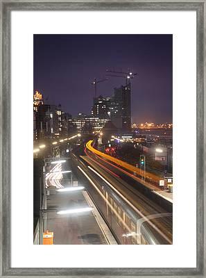 Hamburg Trainstation Framed Print by Marc Huebner